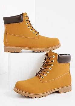 Tan Lug Work Boot