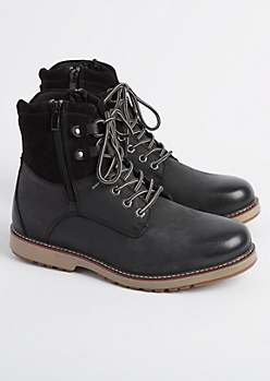 Black Leather Hiking Boot By Unionbay