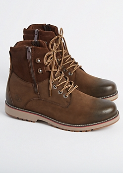 Brown Leather Hiking Boot By Unionbay