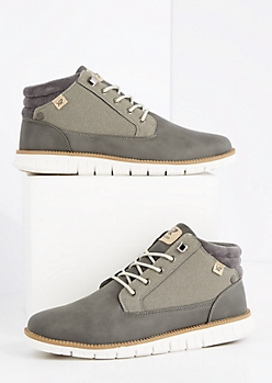 Gray Tonal Vegan Leather Boot By Xray
