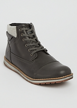 Gray Faux Leather Boot By XRay