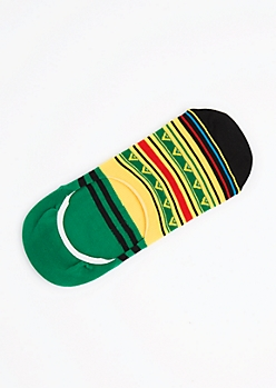 Rasta Striped Geo Secret Socks