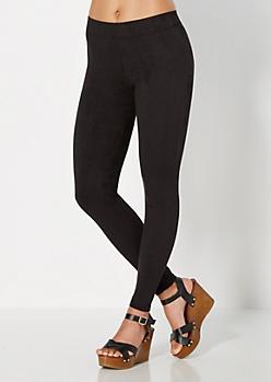 Black Moleskin Legging