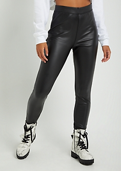 Glossy Faux Leather Legging
