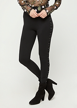 Lace Up Ankle High Rise Legging