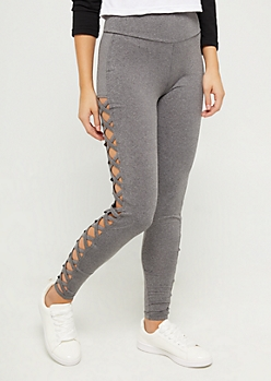 Charcoal Lattice Ankle High Rise Legging