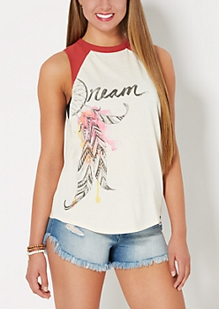 Dream Raglan Muscle Tank Top