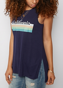 California Striped Tank Top