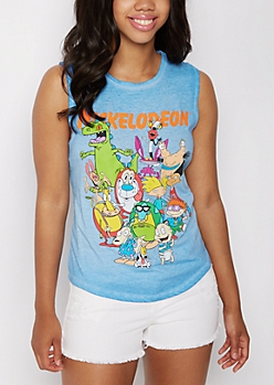 Nick Toons Washed Tank Top