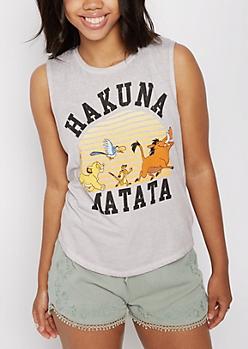 Hakuna Matata Washed Tank Top