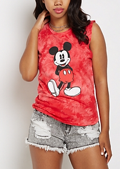 Mickey Mouse Tie Dye Tank Top