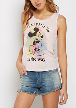 Mickey Mouse Speckled Tank Top