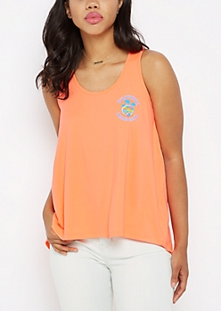 Neon California Beach Club Brushed Tank