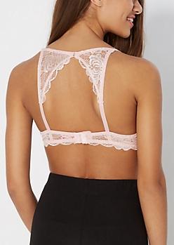 Soft Pink Lace Double Push-Up Bra
