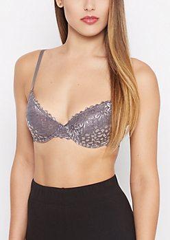Iridescent Lace Push-Up Bra