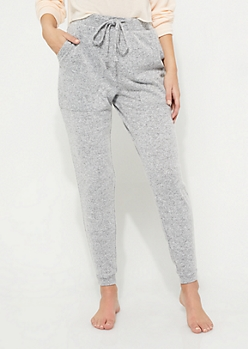 Heather Specked Terry Knit Boyfriend Jogger
