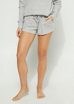 Gray Hacci Knit Shorts