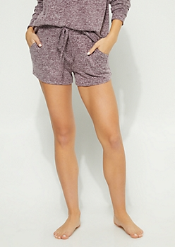 Purple Hacci Knit Shorts