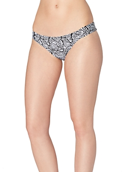 Tribal Ruched Bikini Bottom