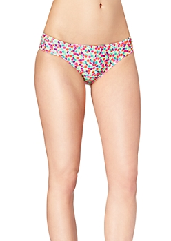 Neon Cotton Ball Ruched Hipster Bottom