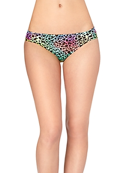 Rainbow Leopard Ruched Hipster Bottom