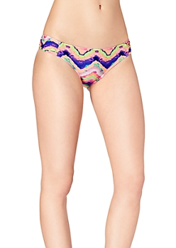 Neon Watercolor Ruched Hipster Bottom