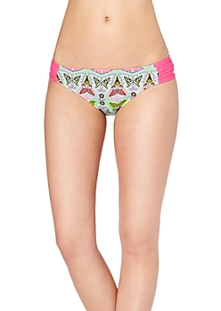 Neon Geo Ruched Hipster Bottom
