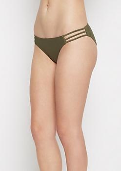 Olive Strappy Bikini Bottom