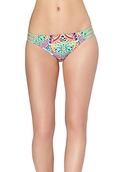 Retro Paisley Caged Bikini Bottom