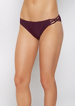 Purple Caged Side Bikini Bottom