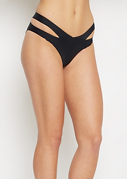 Black Cut-Out Bikini Bottom