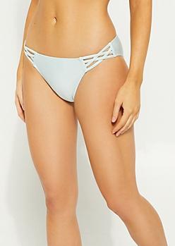 Light Blue Crossing Strap Bikini Bottoms