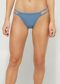 Blue Caged Bikini Bottoms