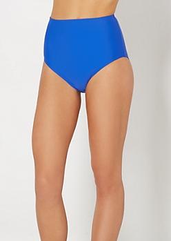 Blue High Waist Bikini Bottom