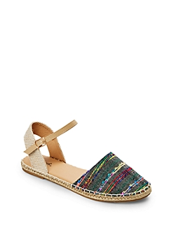 Black Ankle Strap Espadrille Sandal By Qupid®