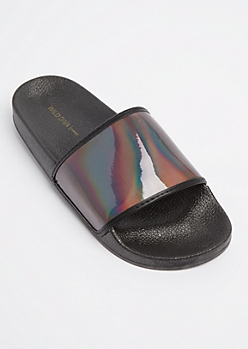 Iridescent Slide On By Wild Diva