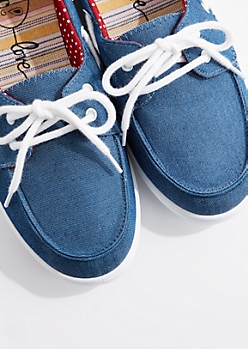 Denim Boat Shoe