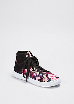 Multi Faux Leather High Top Sneaker By Qupid®