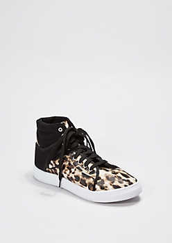 Animal Print Faux Leather High Top Sneaker By Qupid®