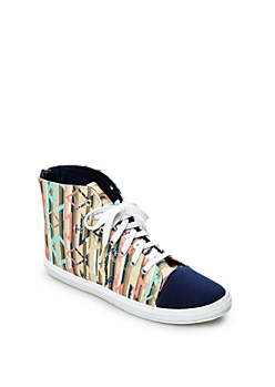 Multi Zip Back High Top Sneaker By Qupid®