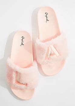 LA Faux Fur Slide-On By Qupid