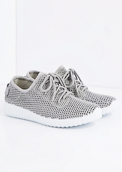Gray Mesh Trainer By Qupid