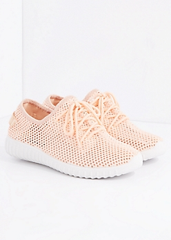 Pink Mesh Trainer By Qupid