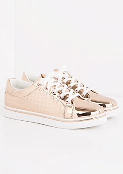 Rose Gold Metallic Quilted Sneaker