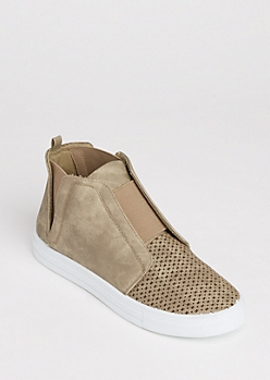 X Perforated High Top Sneaker