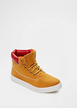 Red Color Padded High Top Sneaker By Qupid®