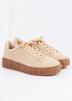 Tan Creeper Sneaker By Wild Diva