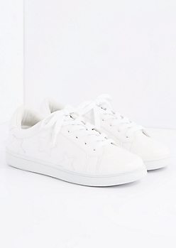 White Star Retro Sneaker By Wild Diva