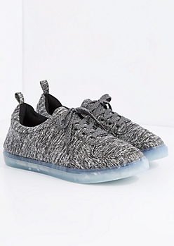 Heather Gray Light Up Low Top Sneaker