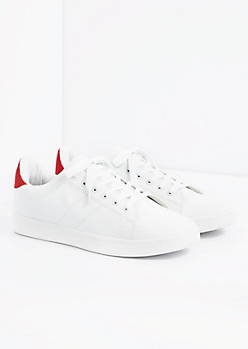 Red Vintage Pop Accent Sneaker